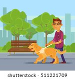 blind man character walking...   Shutterstock .eps vector #511221709