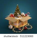 Opened Gift Box Full Of...