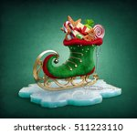 magical elf skate full of... | Shutterstock . vector #511223110