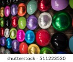 coconut shell bowls  colorful...   Shutterstock . vector #511223530