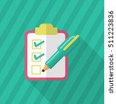 checklist icon  vector flat... | Shutterstock .eps vector #511223836