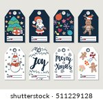 christmas and new year gift... | Shutterstock .eps vector #511229128