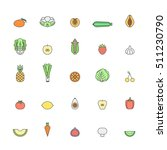 fruit and vegetable multicolor... | Shutterstock .eps vector #511230790