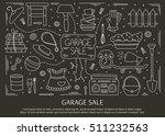garage sale  household used... | Shutterstock .eps vector #511232563