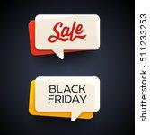 black friday sale vector banner ... | Shutterstock .eps vector #511233253