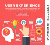 user experience  ux modern... | Shutterstock .eps vector #511233316