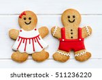 gingerbread couple for... | Shutterstock . vector #511236220