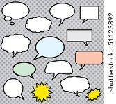 vector comics speech bubbles... | Shutterstock .eps vector #51123892