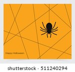 vector spider web and spider  | Shutterstock .eps vector #511240294