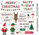 christmas isolated vector... | Shutterstock .eps vector #511243768