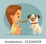 little girl child character... | Shutterstock .eps vector #511244239