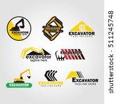 excavator logo design template. ...