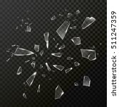 broken shattered glass debris.... | Shutterstock .eps vector #511247359