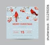 christmas invitation card  ... | Shutterstock .eps vector #511250206