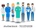 medical good team. hospital... | Shutterstock .eps vector #511251028
