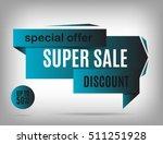deep blue sale banner design.... | Shutterstock .eps vector #511251928