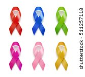 realistic set of ribbons. 3d... | Shutterstock .eps vector #511257118