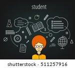 student smart  graduate ... | Shutterstock .eps vector #511257916