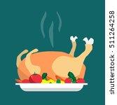 happy holidays cartoon flat... | Shutterstock .eps vector #511264258