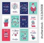 vector merry christmas greeting ... | Shutterstock .eps vector #511265008