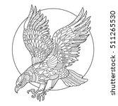 eagle bird coloring book for...