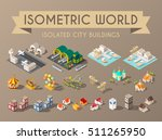 isometric world. set of... | Shutterstock .eps vector #511265950