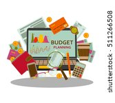 budget planning concept in flat ... | Shutterstock .eps vector #511266508