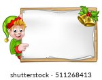 christmas elf cartoon character ... | Shutterstock .eps vector #511268413