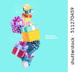 christmas colorful gifts | Shutterstock .eps vector #511270459