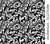 vector damask seamless pattern... | Shutterstock .eps vector #511276288
