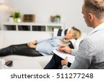 woman lying on couch at doctors ... | Shutterstock . vector #511277248