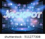 Jackpot Casino Neon Lettering...