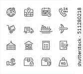 shipping and logistics icons...   Shutterstock .eps vector #511280218