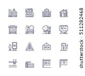 buildings icons | Shutterstock .eps vector #511282468