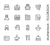 hotel icons with white... | Shutterstock .eps vector #511282624