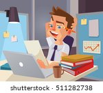 hard work. tired office worker...   Shutterstock .eps vector #511282738