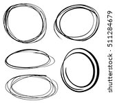 scribbled round frames... | Shutterstock .eps vector #511284679