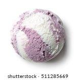 Ice Cream Ball Isolated On...