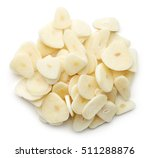 heap of chopped garlic isolated ... | Shutterstock . vector #511288876