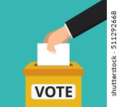 voting concept. hand putting...   Shutterstock .eps vector #511292668