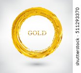 vector grunge circle.golden... | Shutterstock .eps vector #511293370