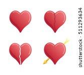 heart icon set | Shutterstock .eps vector #511293634