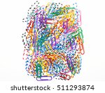 mix of colorful decorative...   Shutterstock . vector #511293874