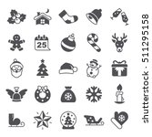 christmas icons | Shutterstock .eps vector #511295158