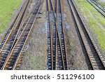 view on the train tracks . | Shutterstock . vector #511296100