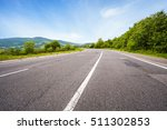empty asphalt road and summer...   Shutterstock . vector #511302853