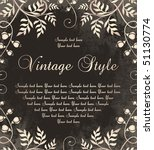 vintage frame on dark backdrop | Shutterstock .eps vector #51130774
