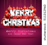 2017 happy new year background... | Shutterstock .eps vector #511312960