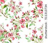 seamless watercolor pattern... | Shutterstock . vector #511313734