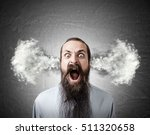 Portrait Of Shouting Man With...